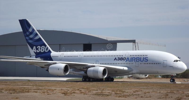 Luchtbus a380 FIDAE royalty-vrije stock afbeelding