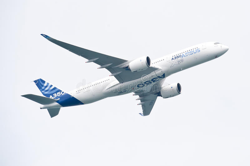 Luchtbus A350-900 @ Singapore Airshow 2014 royalty-vrije stock afbeelding