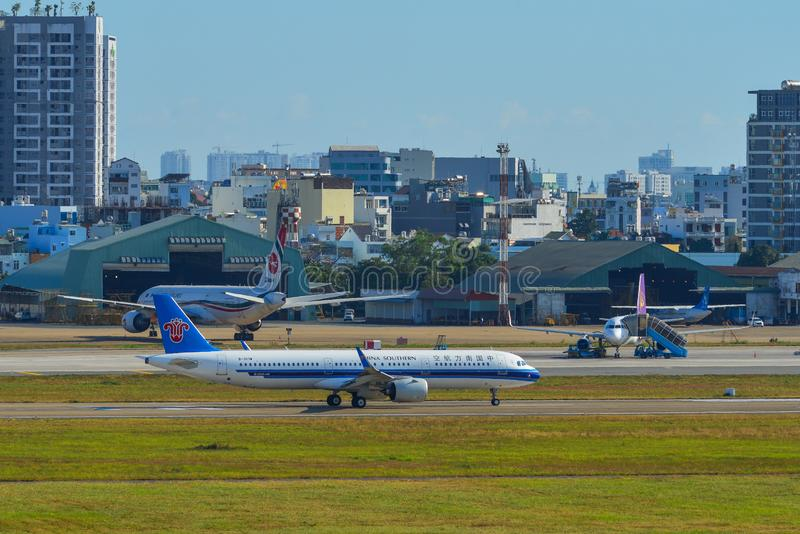 Luchtbus A321 van China Southern Airlines stock fotografie