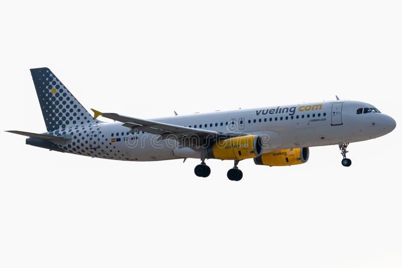 Luchtbus - A320-232 - 2747 in werking gesteld door Vueling Airlines-te landen royalty-vrije stock fotografie