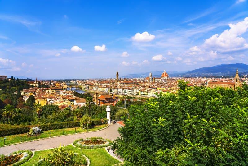 Luchtcityscape van Florence of van Florence Toscanië, Italië stock fotografie