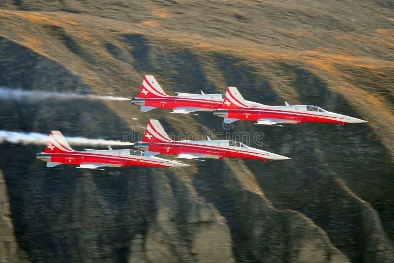 Luchtdemonstratieteam royalty-vrije stock afbeeldingen