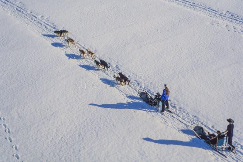 Luchtfoto Alaska royalty-vrije stock foto