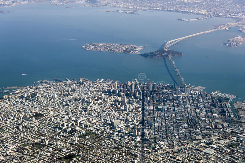 Luchtfoto San Francisco stock afbeelding