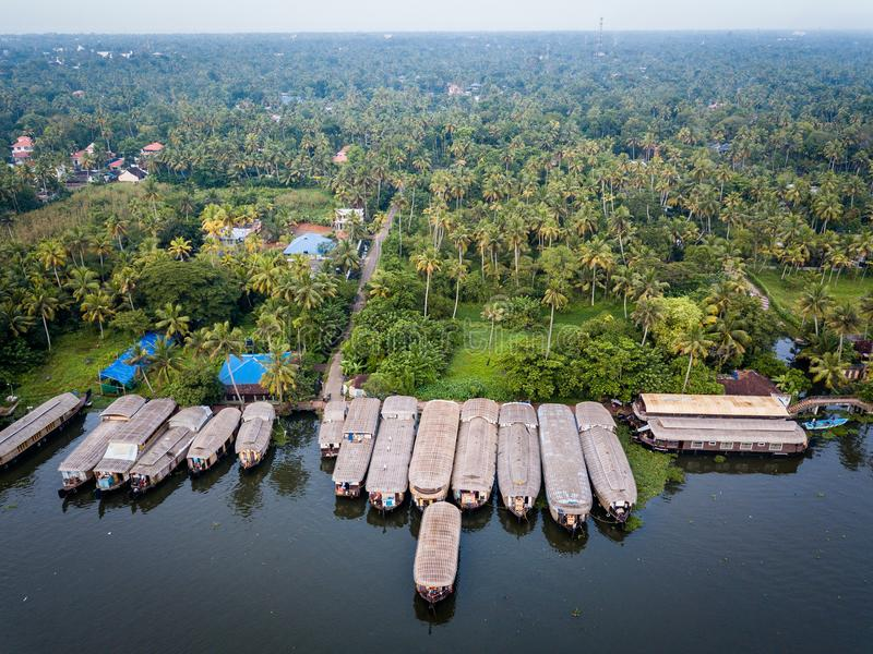 Luchtfoto van Alappuzha India stock fotografie