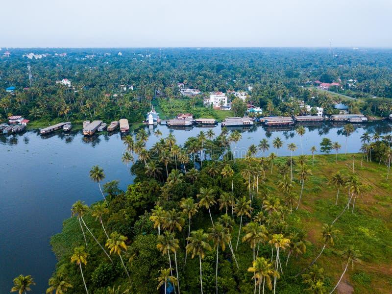 Luchtfoto van Alappuzha India royalty-vrije stock foto