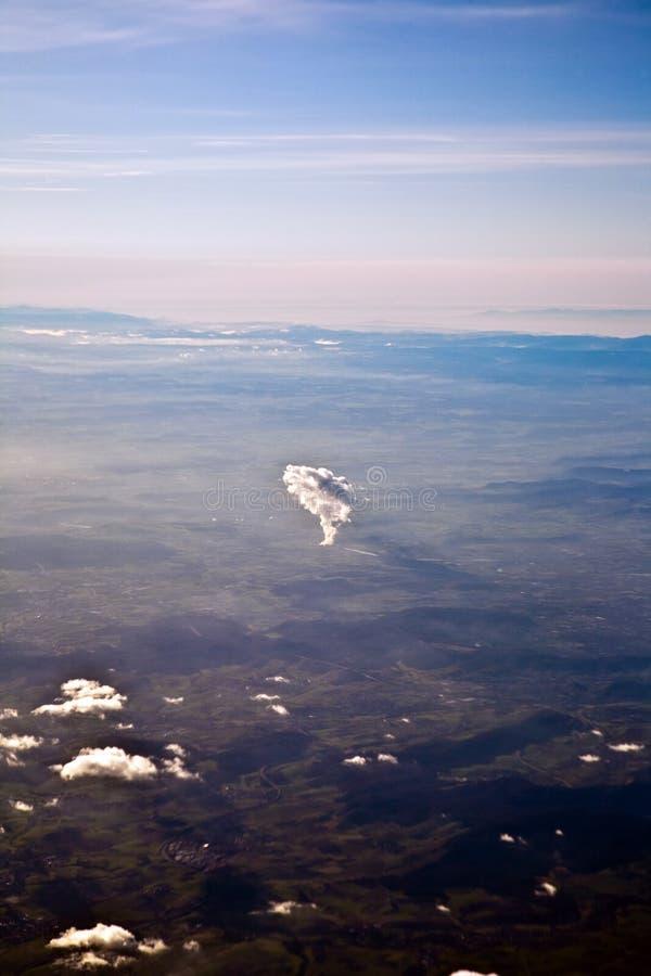 Luchtfoto van de rivier Rijn royalty-vrije stock afbeeldingen