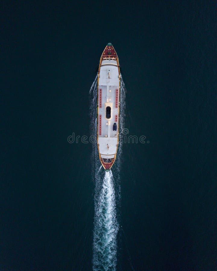 Luchtfoto van een veerboot royalty-vrije stock foto's