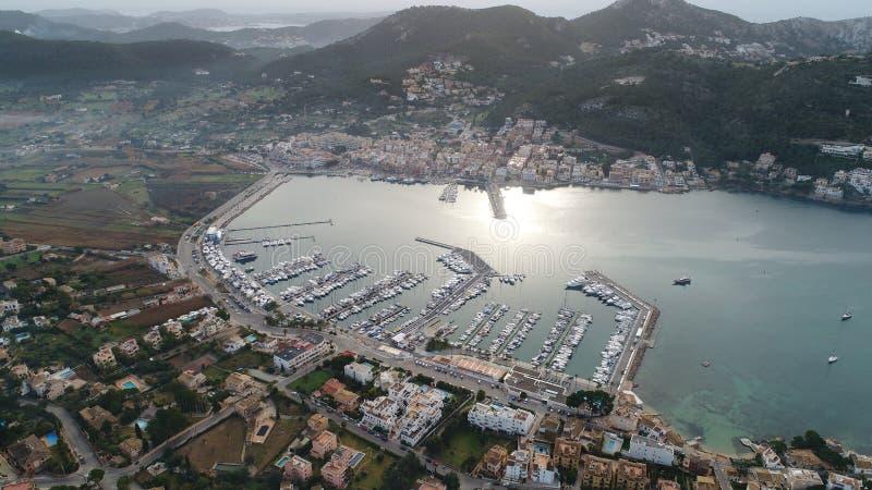Luchtfoto van het havengebied royalty-vrije stock foto's