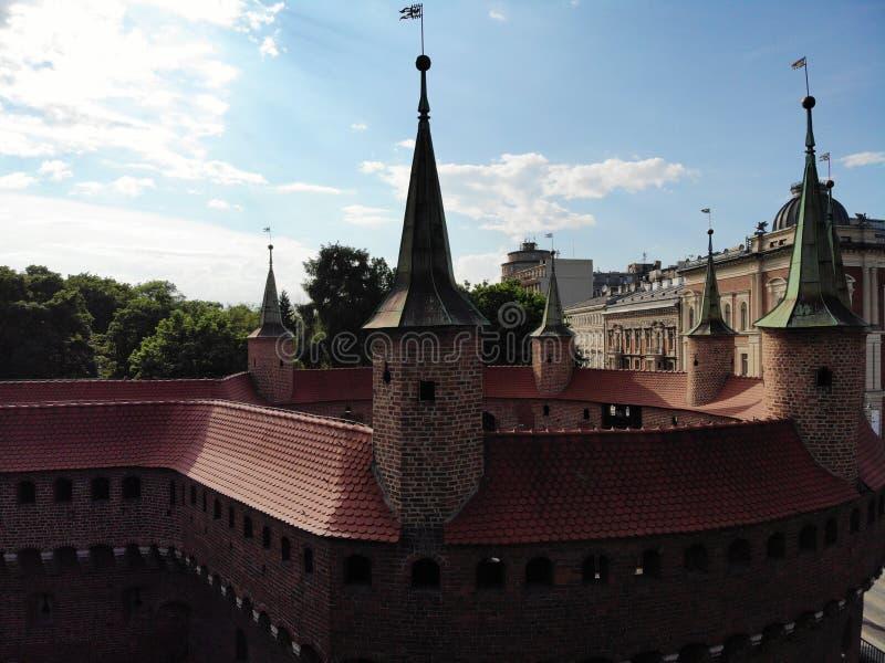 Luchtfoto van hommel De cultuur en de historische hoofdstad van Polen Comfortabel en mooi Krakau Het land van Legende royalty-vrije stock afbeeldingen