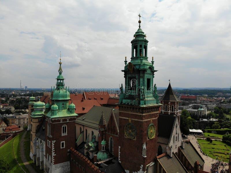 Luchtfoto van hommel De cultuur en de historische hoofdstad van Polen Comfortabel en mooi Krakau Het land van Legende E stock foto