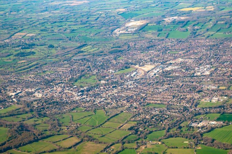 Luchtfoto van Horsham, East Sussex, Verenigd Koninkrijk royalty-vrije stock fotografie