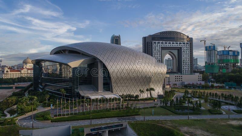 Luchtfoto van MITEC, Maleisië royalty-vrije stock afbeelding