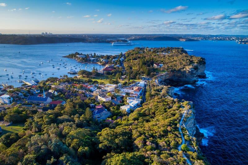 Luchtfoto van Sydney stock foto's