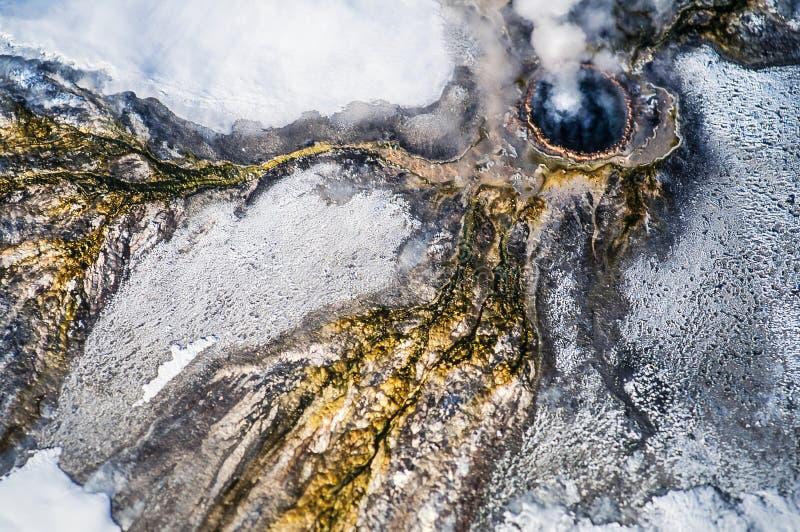 Luchtfoto van Yellowstone-Park royalty-vrije stock foto's