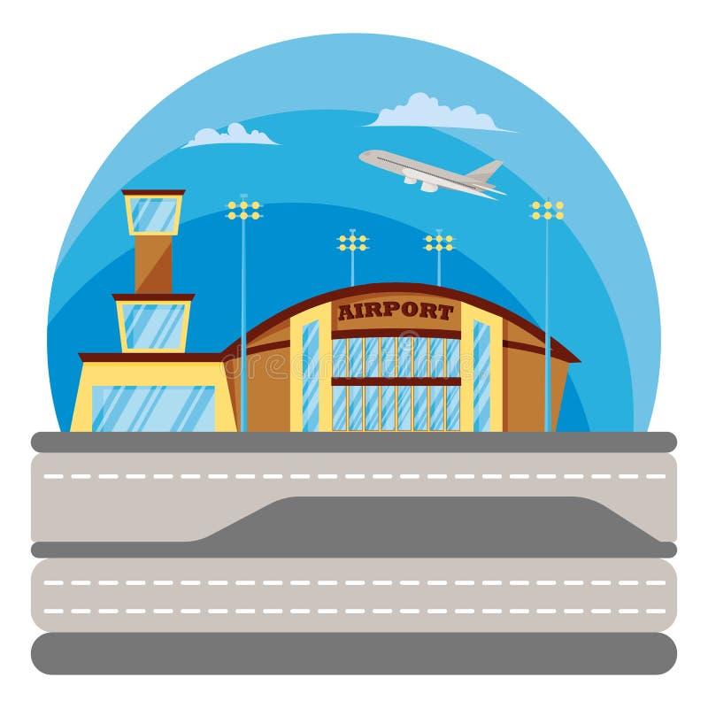 luchthaven Concept in vlakke vectorstijl stock illustratie