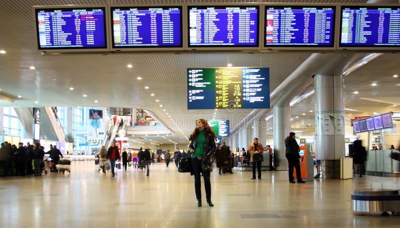 Luchthaven Domodedovo royalty-vrije stock afbeelding