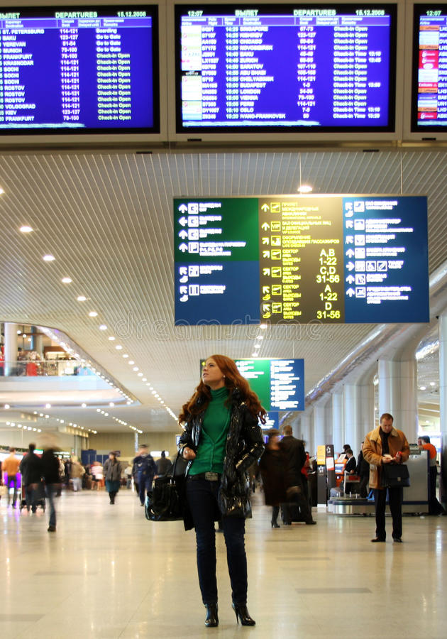 Luchthaven Domodedovo royalty-vrije stock fotografie