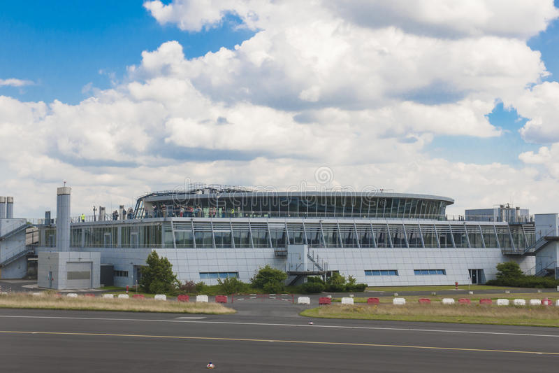 Luchthaven Dusseldorf stock afbeelding