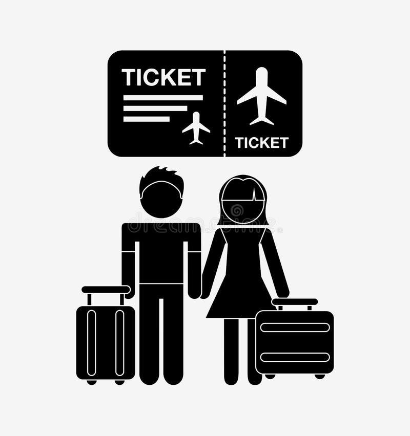 luchthaven eindontwerp royalty-vrije illustratie