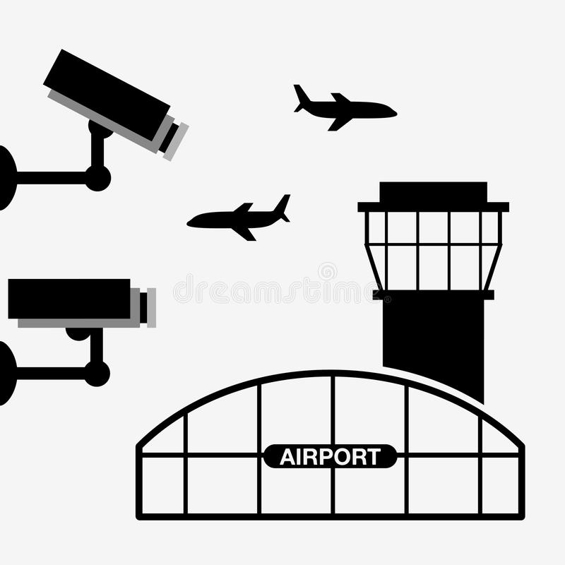 luchthaven eindontwerp stock illustratie