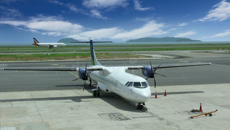 Luchthaven in Kota Kinabalu stock afbeeldingen