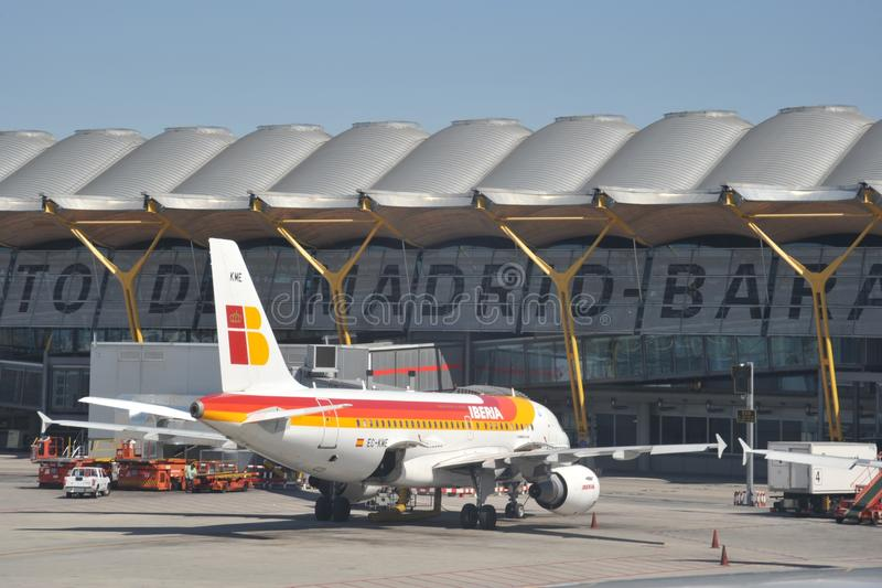 Luchthaven Madrid-Barajas royalty-vrije stock afbeelding