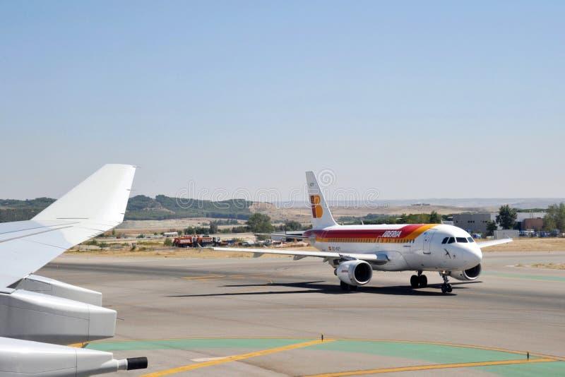 Luchthaven Madrid-Barajas royalty-vrije stock afbeeldingen