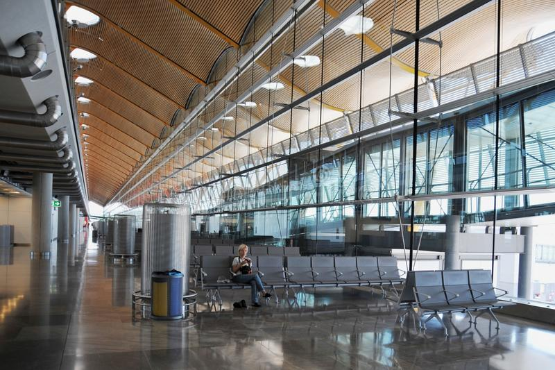Luchthaven Madrid-Barajas stock afbeelding