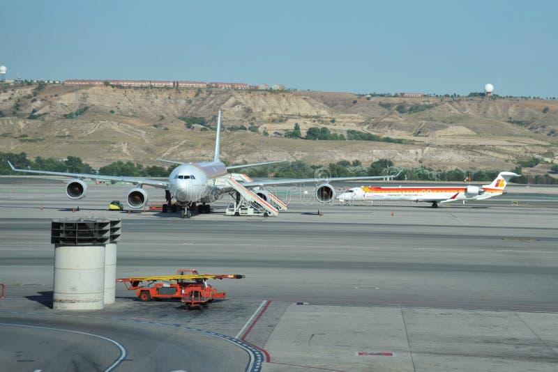 Luchthaven Madrid-Barajas royalty-vrije stock fotografie