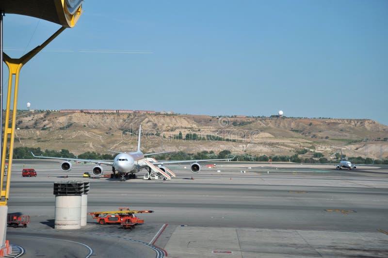 Luchthaven Madrid-Barajas stock fotografie