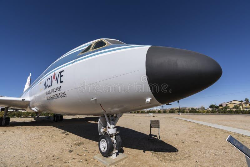 Luchthaven Roadside Jet Mojave royalty-vrije stock afbeelding