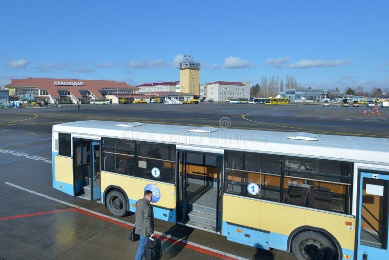 Luchthaven van Krasnodar, Rusland royalty-vrije stock afbeelding
