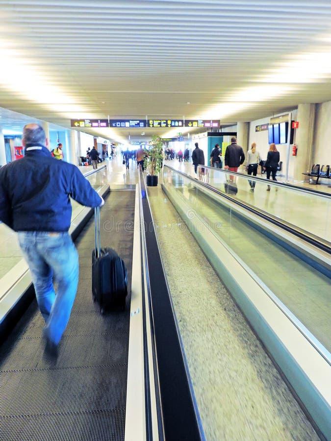 Luchthaven van Palma de Mallorca, bezige Mensen royalty-vrije stock foto's