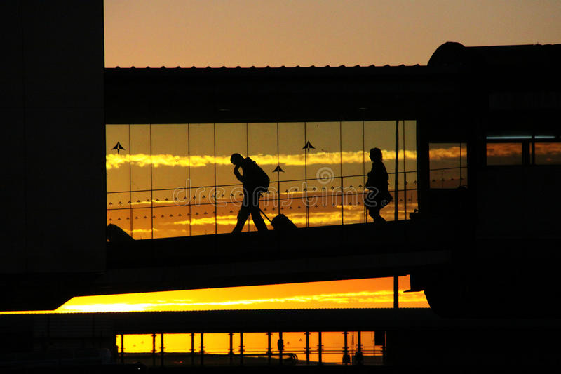 Luchthavenmensen stock afbeelding