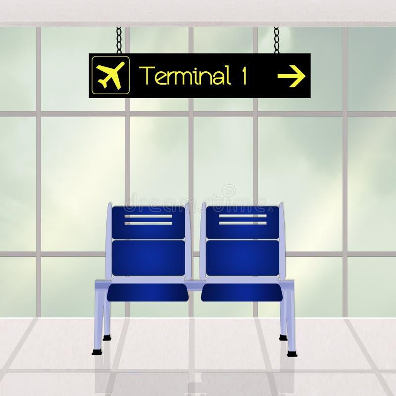 Luchthavenscène stock illustratie
