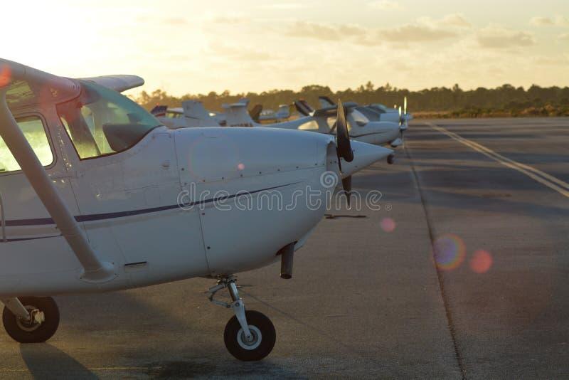 Luchthavenstrook in de ochtend, Florida royalty-vrije stock foto's