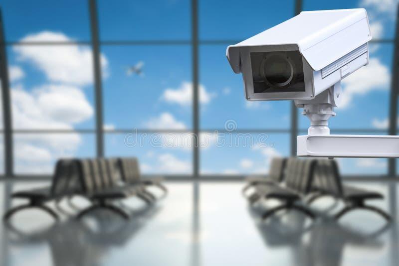Luchthavenveiligheidssysteem stock afbeelding