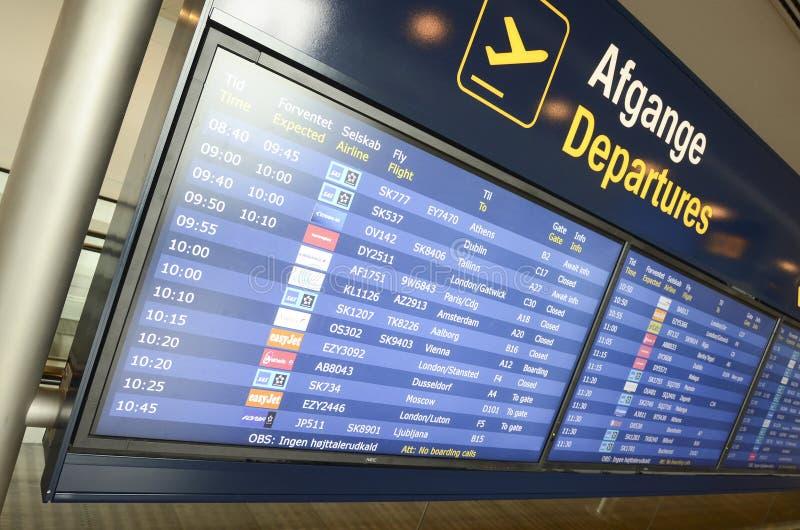 Luchthavenvertrek stock afbeelding