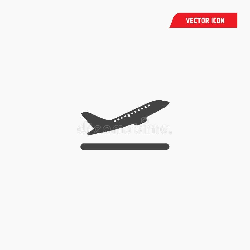 Luchthavenvertrek die poortpictogram inschepen stock illustratie