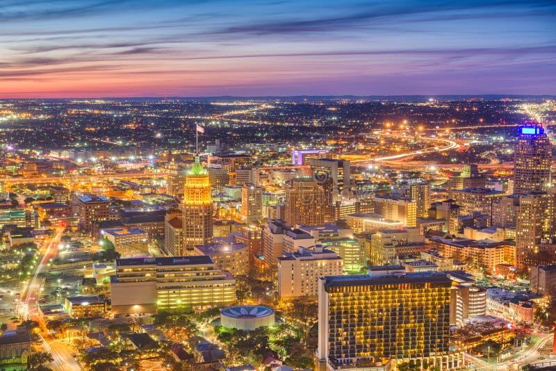 Luchthorizon de Van de binnenstad van San Antonio, Texas, de V.S. royalty-vrije stock fotografie