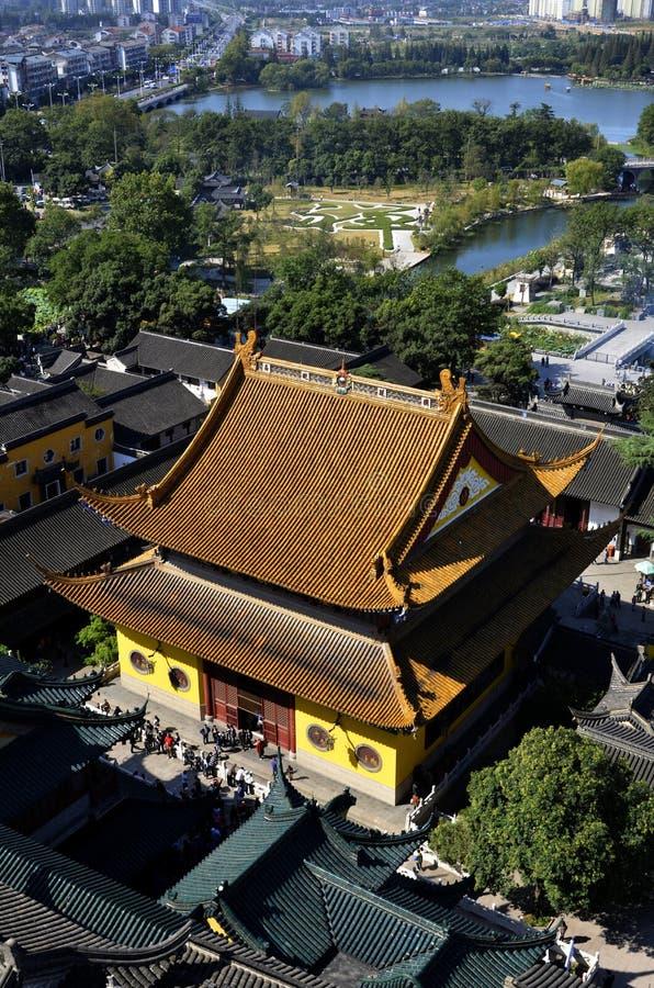 Luchtjiangtian-Tempel royalty-vrije stock foto