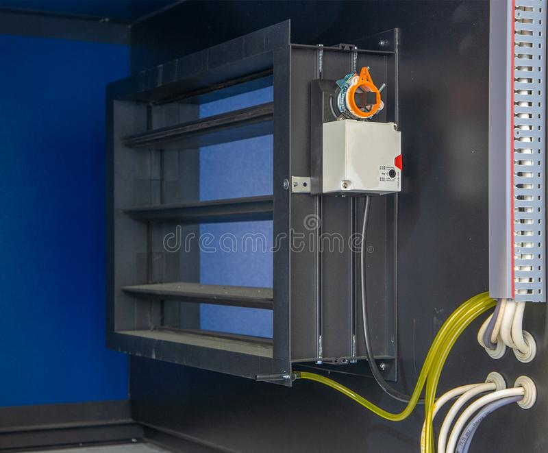 Luchtklep van ventilatiesysteem royalty-vrije stock foto's