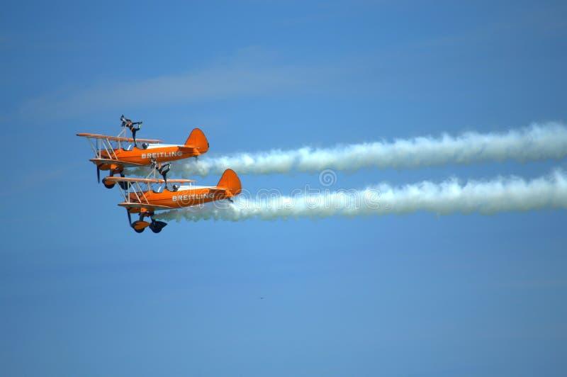 Luchtkunstvliegen Eastbourne Airshow het UK royalty-vrije stock foto's