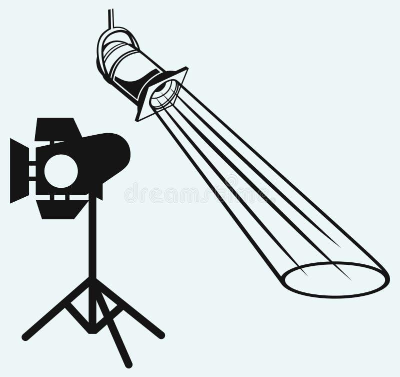 Luchtlichten met straal. Studioverlichting stock illustratie