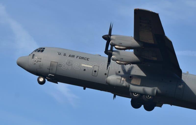 Luchtmacht c-130 Hercules stock afbeeldingen