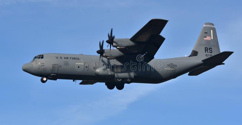 Luchtmacht c-130 Hercules royalty-vrije stock foto