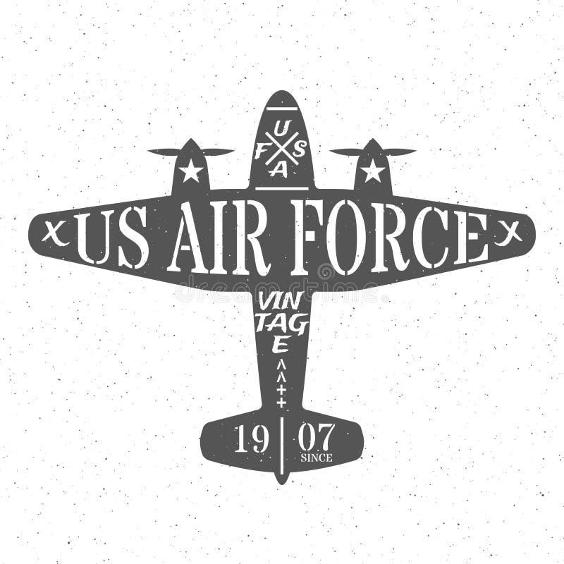 Luchtmacht van de Verenigde Staten royalty-vrije illustratie