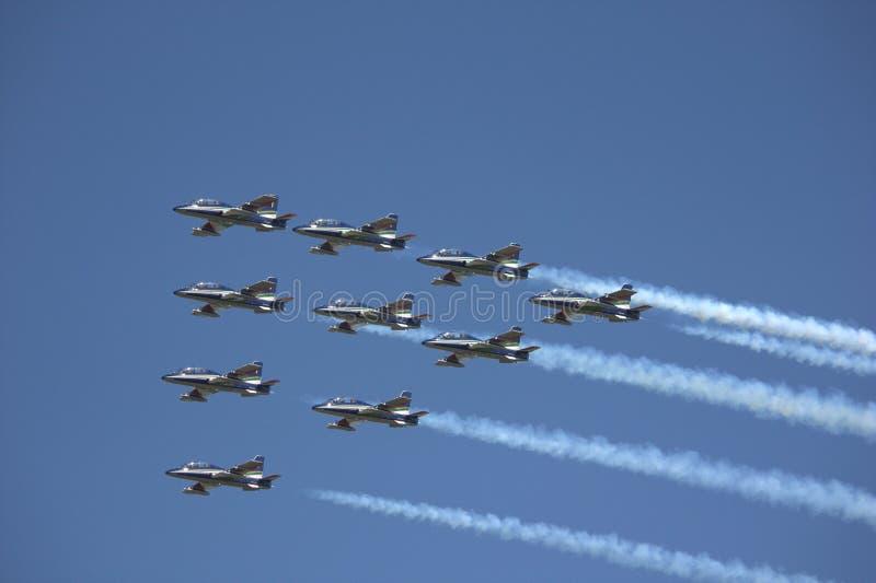 Luchtmachtvliegtuigen royalty-vrije stock fotografie