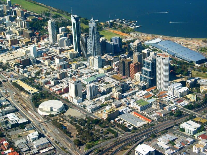 LuchtMening 2 van de Stad van Perth stock foto
